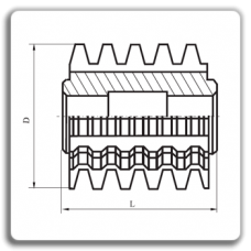 Freze melc monobloc pentru arbori canelati