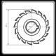 Freze disc detalonate pentru canale