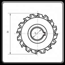 Freze disc cu trei taisuri cu dinti in zigzag