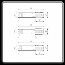 SET 3 tarozi pentru filet UNC DIN 351 N A, D, C
