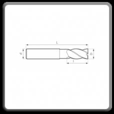 Freze de canelat - Freze cilindrofrontale cu coada cilindrica DIN 844 N AK