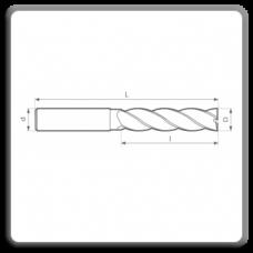 Freze de canelat - Freze cilindrofrontale cu coada cilindrica DIN 844 N AL
