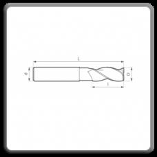 Freze de canelat - Freze cilindrofrontale cu coada cilindrica DIN 844 N AK (3 dinti)