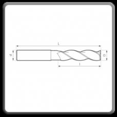 Freze de canelat - Freze cilindrofrontale cu coada cilindrica DIN 844 N AL (3 dinti)