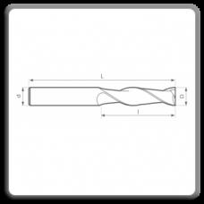 Freze de canelat - Freze cilindrofrontale cu coada cilindrica DIN 844 N AL (2 dinti)
