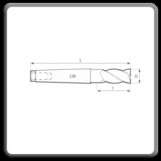 Freze de canelat - Freze cilindro frontale cu coada conica DIN 845 N BK