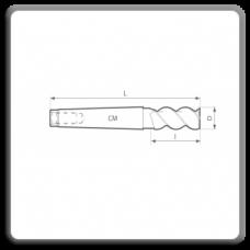 Freze de canelat - Freze cilindro frontale cu coada conica DIN 845 W BK