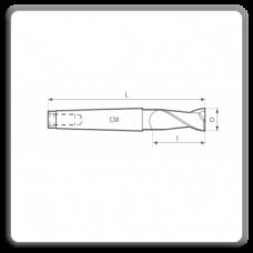 Freze de canelat - Freze cilindro frontale cu coada conica DIN 845 N BK (2 dinti)