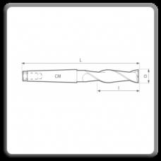Freze de canelat - Freze cilindro frontale cu coada conica DIN 845 N BL (2 dinti)