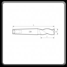 Freze de canelat - Freze cilindro frontale cu coada conica DIN 845 N BK (3 dinti)
