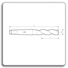 Freze de canelat - Freze cilindro frontale cu coada conica DIN 845 N BL (3 dinti)