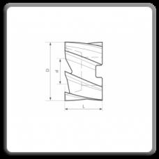 Freze cilindro-frontale cu alezaj DIN 1880 H