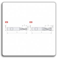 Freze CMS lungi F212 - F412 cu prindere Weldon