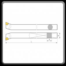 Cutite de strung pentru colt interior cu placute CMS brazate DIN 4974